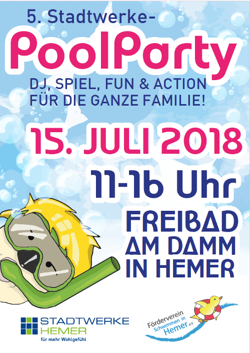Flyer zur Poolparty